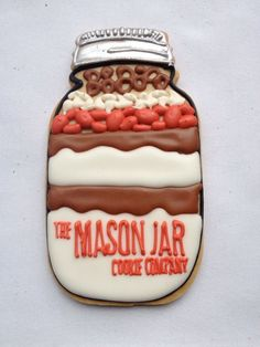 Mason Jar Cookies~                     By one tough cookie nyc, Orange, Brown, ivory