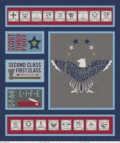 Riley Blake Boy Scouts Of America Scout Panel Navy Fabric By The Yard Eagle Scout Ceremony, Scouts Of America, Navy Fabric, Cotton Quilting Fabric, Riley Blake, Fabric Panels, Square Quilt, Boy Scouts, Wall Design