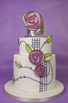 Charles Rennie Mackintosh Cake
