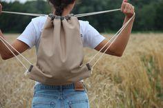 Turnbeutel - Turnbeutel Bio-Baumwolle | Rucksack Gymbag  - ein Designerstück von madebybirdie bei DaWanda