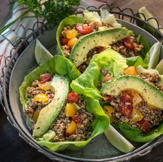 Raw, Vegan Walnut Mushroom Taco Lettuce Wraps @Rawmazing.com