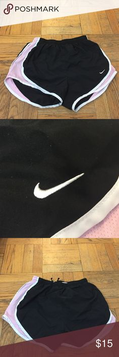 Black and pink tempo Nike shorts Black and pink tempo Nike shorts Nike Shorts