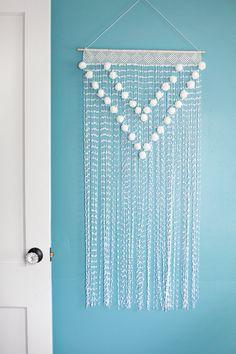 Pom Pom colgante de pared - Fácil de hacer y tan lindo!