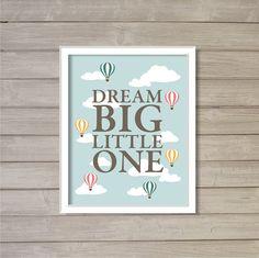 Dream Big Little One Hot Air Balloon 8x10 Wall Art by FebruaryLane