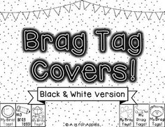 Black And White Math Brag Tags For Classroom Rewards Motivation