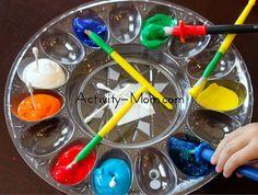 The Activity Mom: Painting Tray Idea