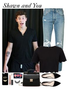 """""""Shawn Mendes 8/10"""" by londero-danielle ❤ liked on Polyvore featuring Levi's, Ted Baker, MANGO, Vapour and MAC Cosmetics"""