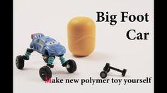 super mini big foot car clay tutorial