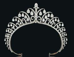 A diamond tiara by Cartier, London, 1920's.