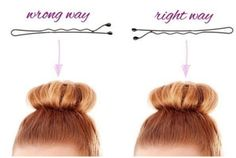 First things first: Remember that bobby pins are meant to be used with the wavy side facing your scalp — the ridges are there to grip your hair and lock everything in place. Bobby Pin Hairstyles, Fast Hairstyles, Beauty And Beauty, Hair Beauty, Curly Hair Styles, Natural Hair Styles, Long To Short Hair, Hair Dos, Textured Hair