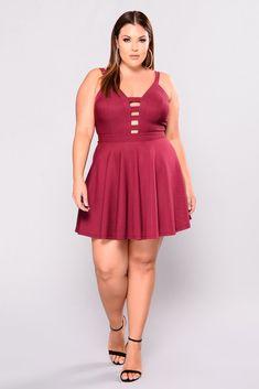 Roza Party Dress - Wine