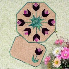 Download Spring Tulips Table Topper & Placemats Sewing Pattern   Quilting   YouCanMakeThis.com