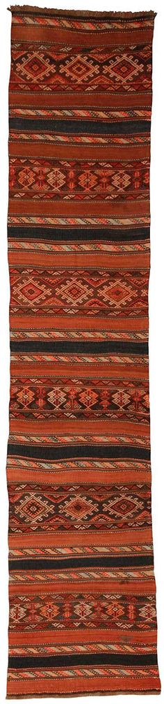 Kilimwholesale.com offers 85 years old Antique Turkish Runner from Malatya - Turkey. Code: 110283, Width: 77cm, Length: 370cm, kilim rugs
