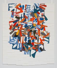Raymond Saá Untitled 2015 gouache collage on sewn paper x in Kunstjournal Inspiration, Art Journal Inspiration, Collages, Collage Art, Post Painterly Abstraction, Hard Edge Painting, Creation Art, Art Sculpture, Abstract Art