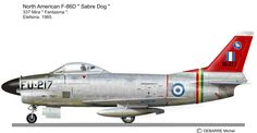 Hellenic Air Force North American F-86D 337 Mira 1965