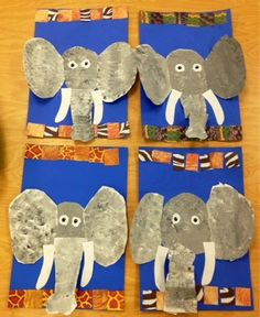 Kindergarten Elephants/sponge painting/pattern/grey-Art with Mr. Giannetto Blog