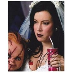 Real Deal Memorabilia Jennifer Tilly Autographed Chucky 8 x 10 Photo Tiffany Chucky Bride, Bride Of Chucky, Scary Movies, Horror Movies, Jennifer Tilley, Chucky Horror Movie, Retro Wallpaper Iphone, Night Terror, Matching Profile Pictures