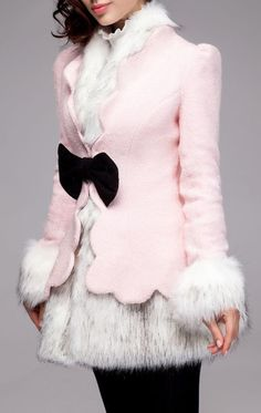 Love the coat, possibly in white or red. The bow is adorable
