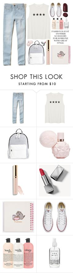 """""""Give me summer day"""" by itaylorswift13 ❤ liked on Polyvore featuring Hollister Co., Poverty Flats, Beautycounter, Burberry, Pusheen, Converse and Herbivore"""