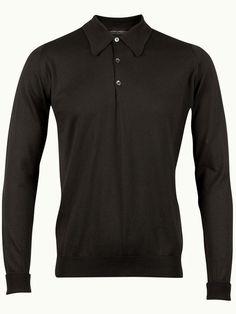 John Smedley Finchley Long Sleeve Polo Shirt - Dark Ash  - Available to buy at http://www.afarleycountryattire.co.uk/product-tag/john-smedley-finchley-long-sleeve-polo-shirt/ #johnsmedley #mensfashion #poloshirt #afarleycountryattire