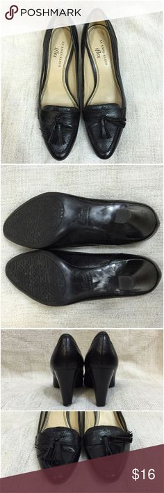 ⭐️Anne Klein iFlex Leather Tassled Loafer Heels Size 7, fits like a true 7.5.  Part of my closet clearance sale so it's priced to sell - no offers! Anne Klein Shoes Flats & Loafers