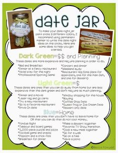 Date Jar Ideas!