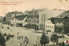 Rynek Kościuszki (Bazarna), Białystok - 1912 rok, stare zdjęcia