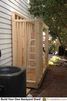 Modern Shed Plans - Inside Painless Products Of DIY Shed Garden - James Davis Diy Storage Shed, Backyard Storage, Backyard Sheds, Diy Shed, Outdoor Sheds, Garden Shed Diy, Shed Construction, Lean To Shed Plans, Small Shed Plans