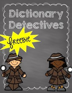 FREEBIE ALERT!! To celebrate (and reward) my 200 followers I am giving away this dictionary detectives freebie! It is a workbook students use to practice using a dictionary. It would be great for a large group lesson, as a partner activity, or a word work center. Please leave feedback!