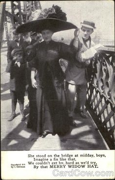 vintage photo 1910 Men on Bended knee to Their Women in Big Edwardian Hats Parasols 31 M