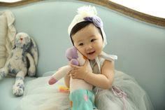 My neice, Saebyur loving her Bulabula doll.