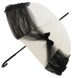 Umbrella by Chantal Thomass Vintage Umbrella, Black Umbrella, Sun Umbrella, Under My Umbrella, Little Nice Things, How To Do Ombre, Chantal Thomass, Brollies, Umbrellas Parasols