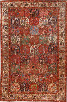 Persian Bakhtiari rug, 12.4 x 18.8, late 19th c, Fred Moheban Gallery New York