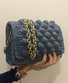 Bubble crochet bag