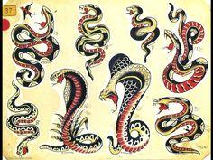 Flash Art Tattoos, Tatto Old, Arm Tattoo, Sleeve Tattoos, Sailor Jerry Flash, Tattoo Old School, Old School Tattoo Designs, Kobra Tattoo, Traditional Snake Tattoo