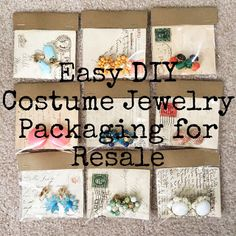Melissa's Antiques: Easy DIY Costume Jewelry Packaging for Resale