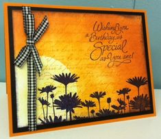 sunset birthday by mikate - Cards and Paper Crafts at Splitcoaststampers