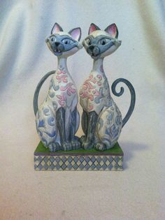 Jim Shore Cats | ... Jim Shore Disney Scheming Suitors Si and Am Siamese Cats from Lady and