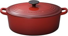 Le Creuset Enameled CastIron 634Quart Oval French Oven Red ** Check out this great product. This Amazon pins is an affiliate link to Amazon.