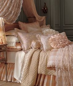 Soft and dreamy with pillows and ruffles!