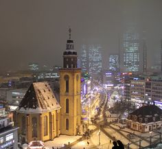 Frankfurt, Germany.  The most wonderful time of year is in Germany in November for the holiday festivals.