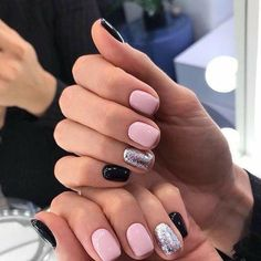 27 Recent nail art by lyuciya nails. Nude and white winter nail art combination. The post 27 Recent nail art by lyuciya nails ap Silver Nails, Pink Nails, Bright Nails, Stylish Nails, Trendy Nails, Cute Acrylic Nails, Cute Nails, Hair And Nails, My Nails