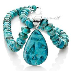 Jay King Turquoise Inlay Pendant with Beaded Necklace at HSN.com.