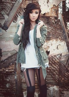 #brown #dyed #scene #hair #pretty