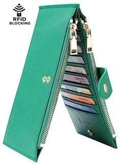 Travelambo Womens Walllet RFID Blocking Bifold Multi Card Case Wallet with  Zipper Pocket Travelambo Womens Walllet RFID Blocking Bifold Multi Card  Case ... 220aa31f6f
