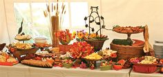 Beautiful spread done by Susanna's catering right here in Vermont - featured in Vermont Bride