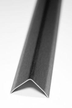 1x 250 cm Eckschutzwinkel 30x30mm Gebürstet Edelstahl 3fach gekanntet