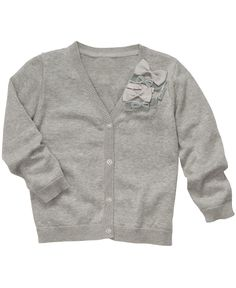 Love the bow detail. Osh Kosh Kids Sweater, Little Girls Bow Cardigans - Kids Girls 2-6X - Macy's $26.40 #MacysBTS