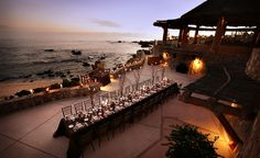 Long Imperial Table with tall centerpieces!! Los Cabos Wedding Planner Karla Casillas