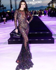 The beautiful @rymoushka3 looked amazing at the @degrisogono party #cannesfilmfestival2016 @zuhairmuradofficial